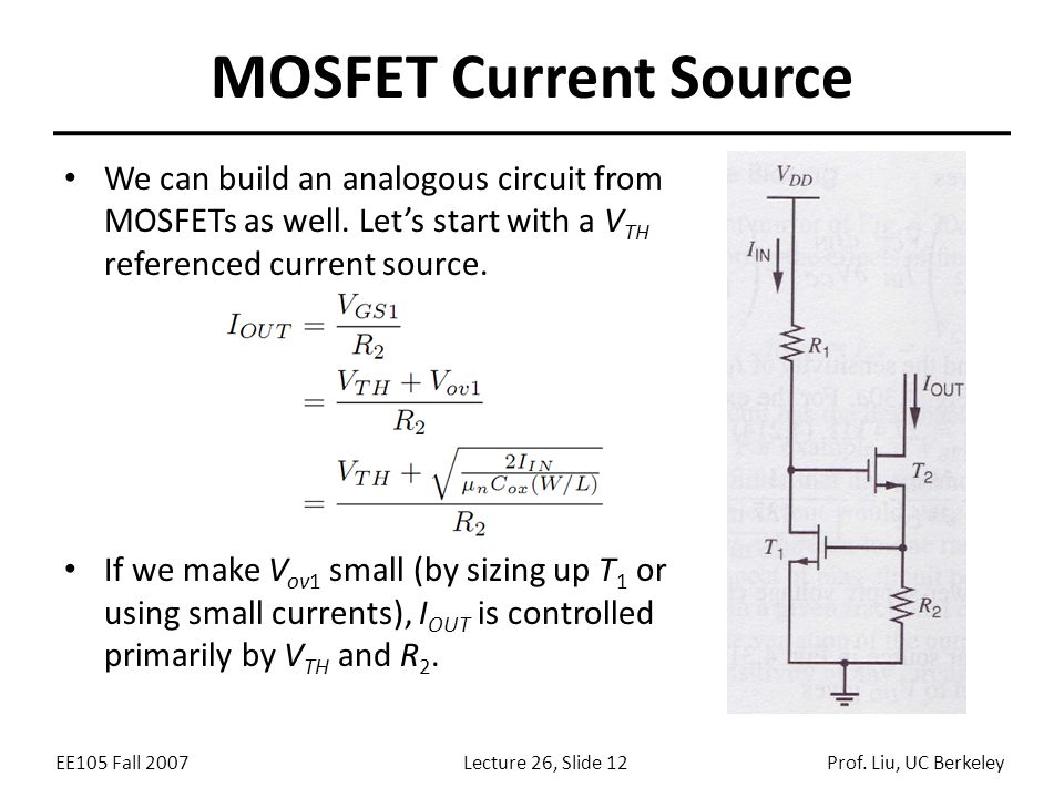 EE105 Fall 2007Lecture 26, Slide 12Prof.