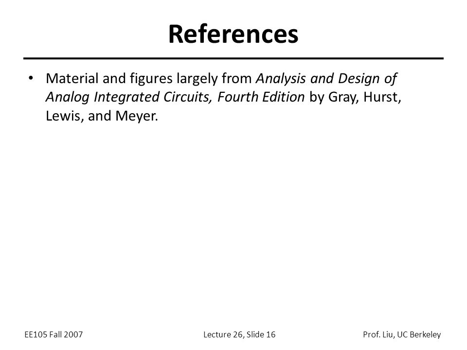 EE105 Fall 2007Lecture 26, Slide 16Prof.