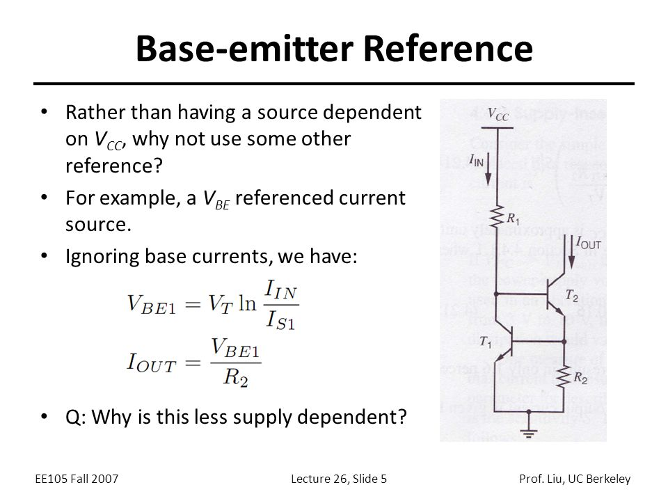 EE105 Fall 2007Lecture 26, Slide 5Prof.