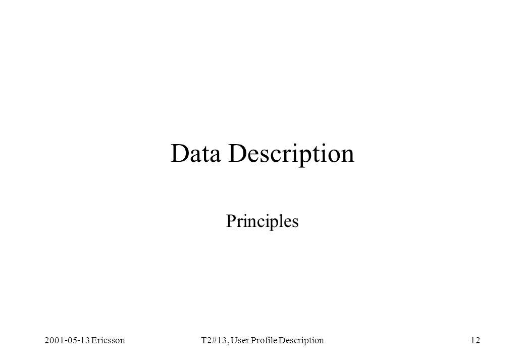 2001-05-13 EricssonT2#13, User Profile Description12 Data Description Principles
