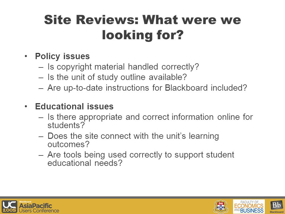 Your Logo Here Site Reviews: What were we looking for.