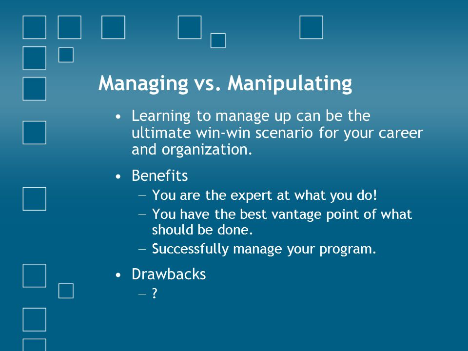 Managing vs.