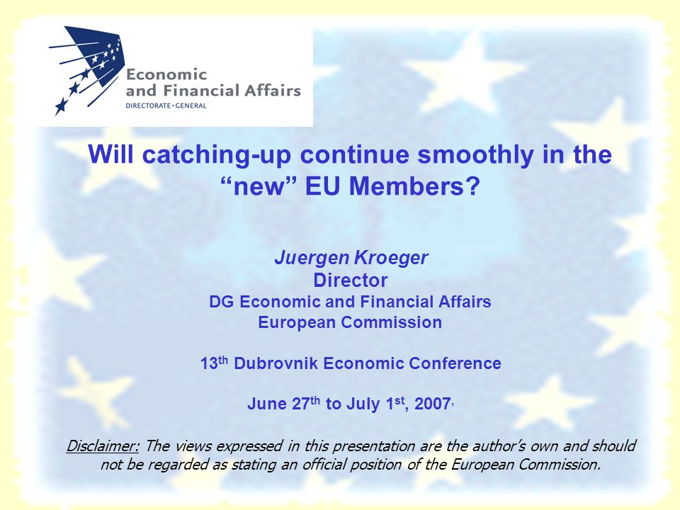 Will catching-up continue smoothly in the new EU Members.