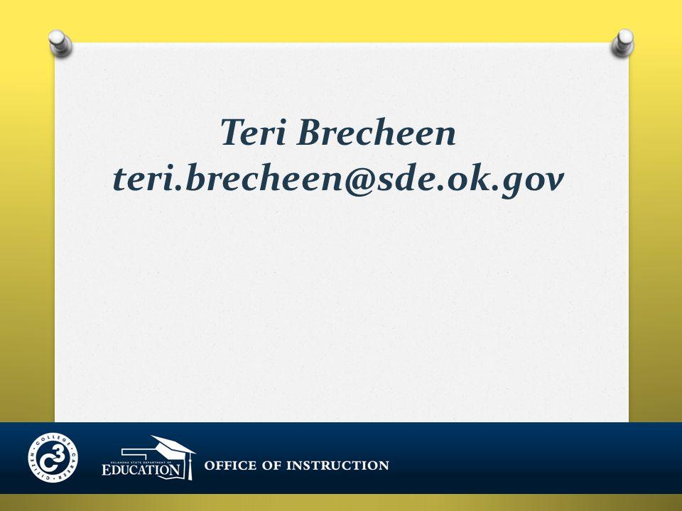Teri Brecheen teri.brecheen@sde.ok.gov