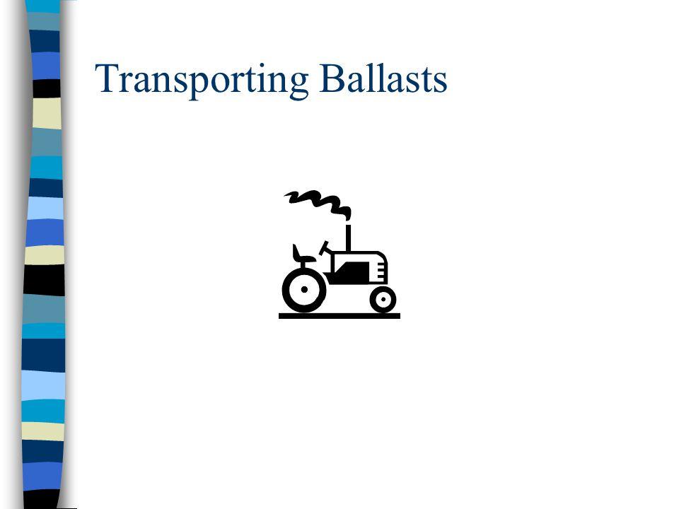 Transporting Ballasts