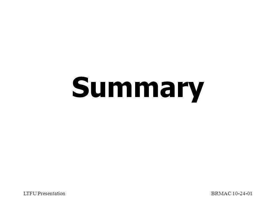 LTFU PresentationBRMAC 10-24-01 Summary