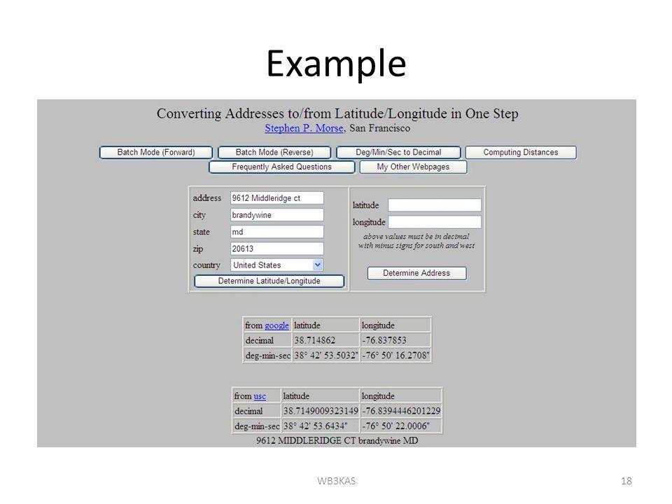 Example WB3KAS18