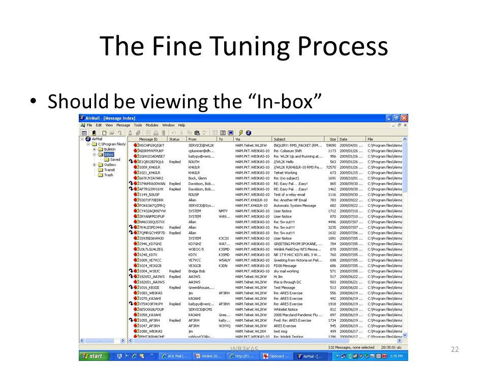 The Fine Tuning Process Should be viewing the In-box 22WB3KAS