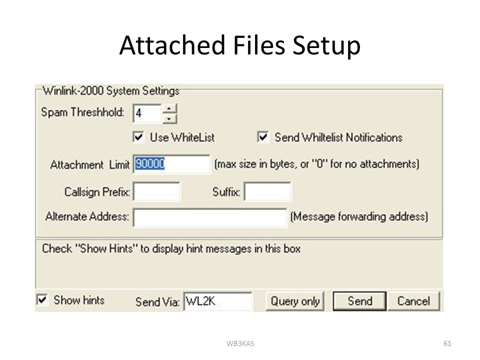 Attached Files Setup WB3KAS61