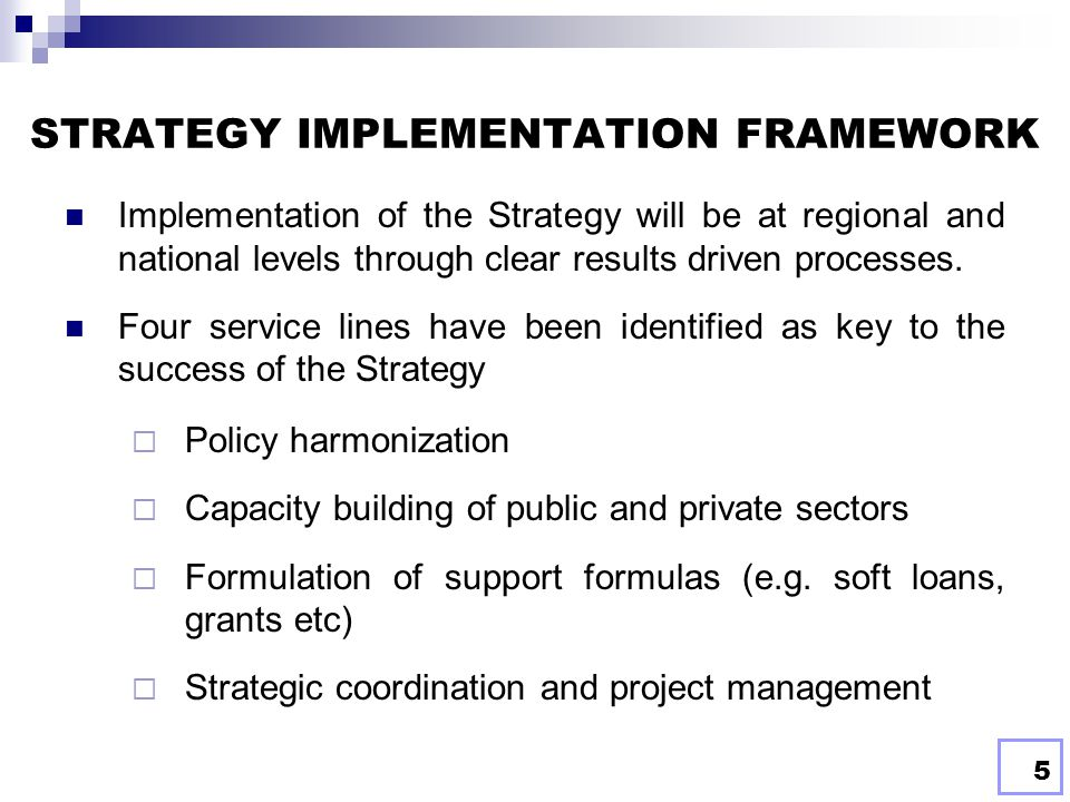 4 TARGETS OF THE STRATEGY The Strategy aims at developing MDG-based energy access investments in the framework of High Impact Low Cost Scalable (HILCS