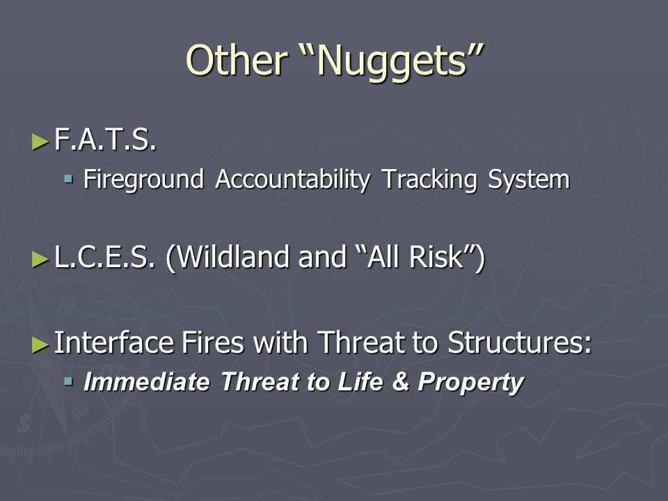 Other Nuggets ► F.A.T.S. Fireground Accountability Tracking System ► L.C.E.S.