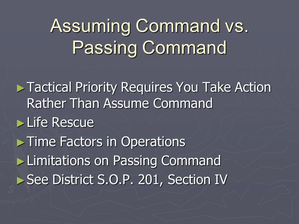 Assuming Command vs.