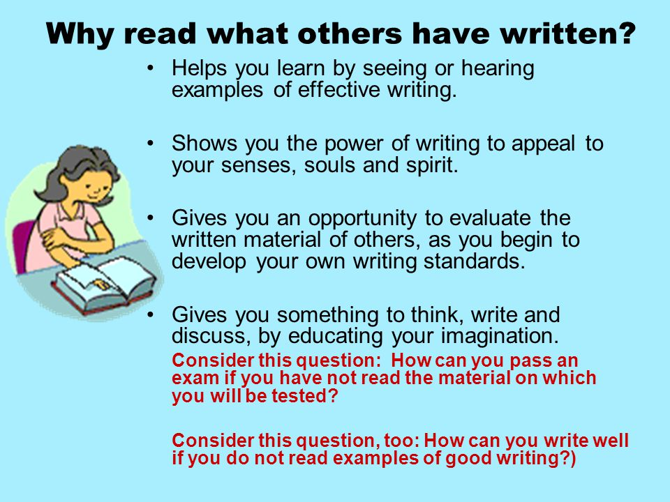 Why read what others have written.