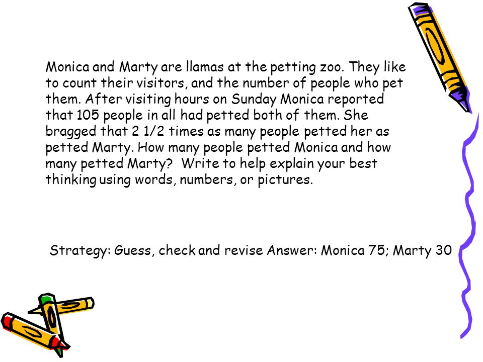 Monica and Marty are llamas at the petting zoo. They like to count their visitors, and the number of people who pet them. After visiting hours on Sund