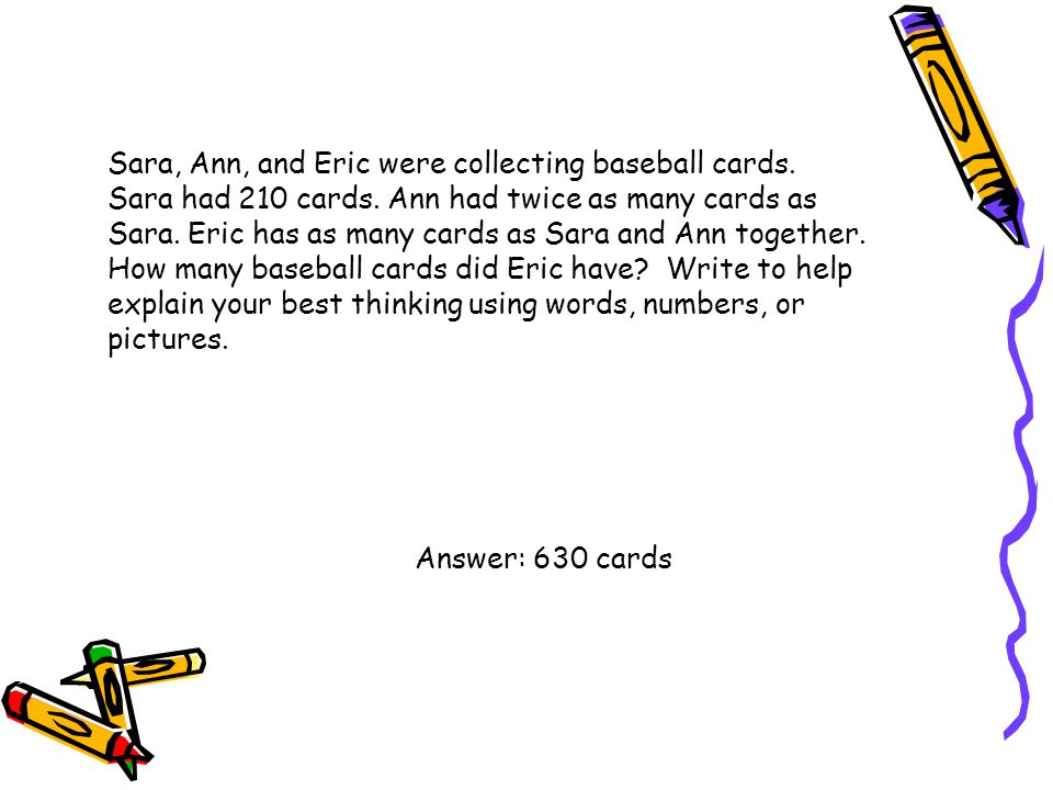 Sara, Ann, and Eric were collecting baseball cards. Sara had 210 cards. Ann had twice as many cards as Sara. Eric has as many cards as Sara and Ann to