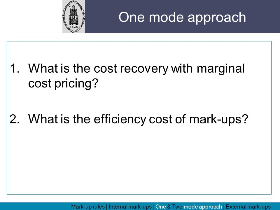 Cost-recovery results: (Revenue Chapter 2, A.