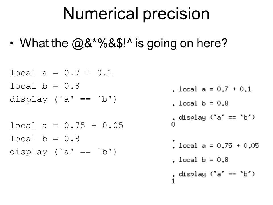 Fixed Effects probit (slow) clear set more off set mem 1000m set seed 12345 set matsize 3000 set obs 12000 gen id = 1+floor((_n - 1)/4) gen a = invnormal(uniform()) gen fe_raw = 0.5*invnorm(uniform()) + 2*a bys id: egen fe = mean(fe_raw) gen x = invnormal(uniform()) gen e = invnormal(uniform()) gen y = (1*x + fe > invnormal(uniform()) + a) sort id y by id: keep if y[1] != y[_N] xi i.id probit y x _I*