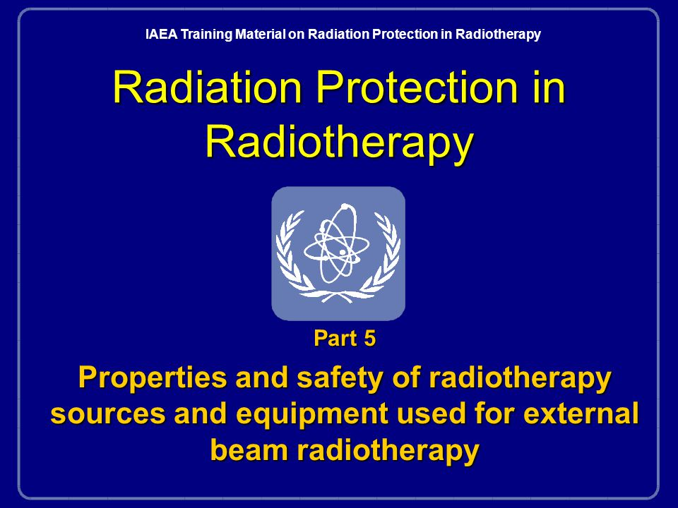 Radiation Protection in RadiotherapyPart 5, lecture 1: Radiation types and techniques82 EBT verification tools l Correct location n portal films n electronic portal imaging l Correct dose n phantom measurements n in vivo dosimetry l Part 10 with some comments in second lecture part 5 (now) l Parts 2 and 10