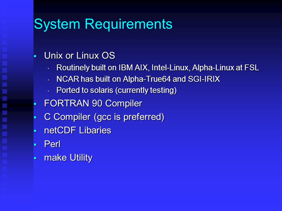 System Requirements  Disk Requirements Recommended Minimum Total Space: 10 GB Recommended Minimum Total Space: 10 GB Approx.