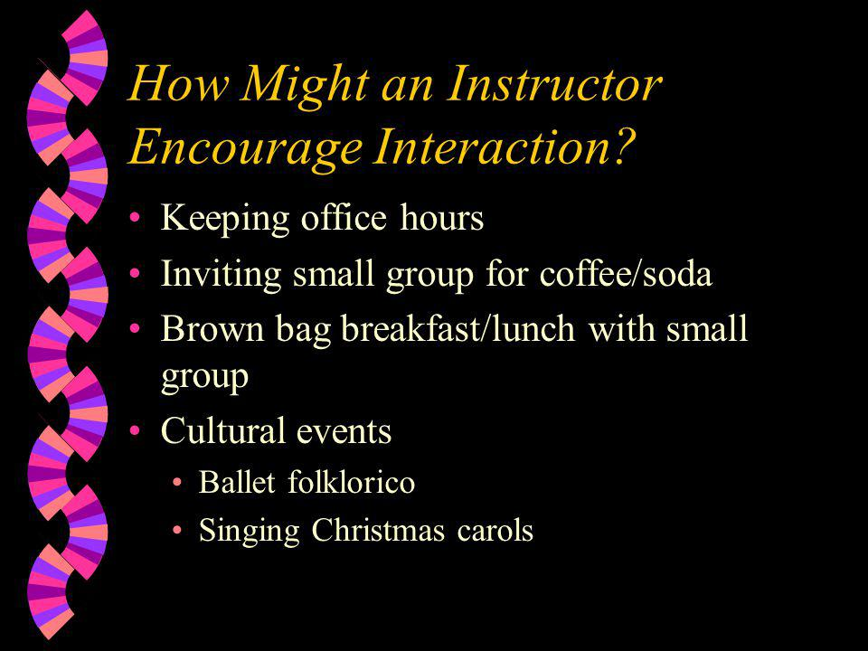 How Might an Instructor Encourage Interaction.