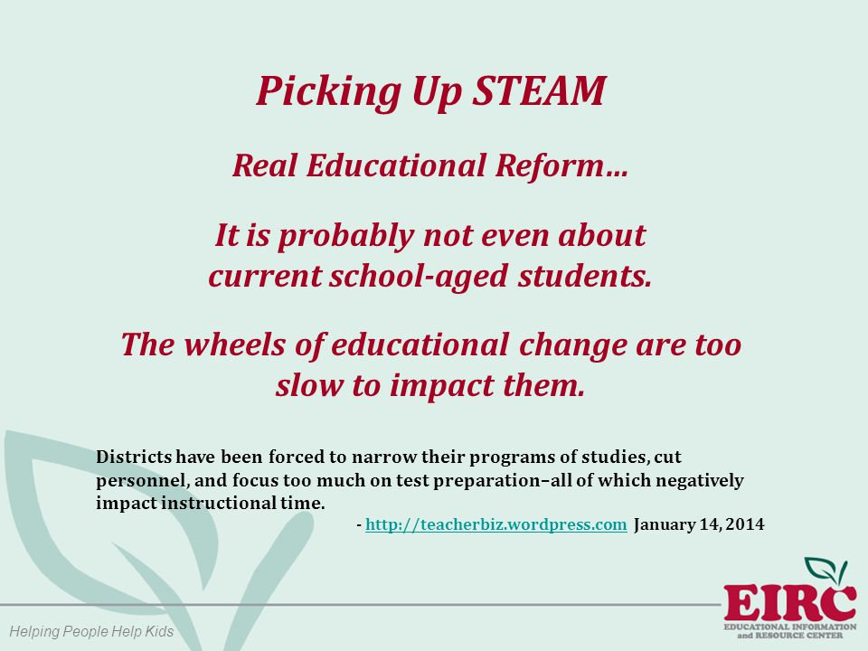 Picking Up STEAM Middle School is the prime age for maintaining an interest in STEM (Science, Technology, Engineering, Mathematics) for girls: A recent study of fourth graders showed that 66 percent of girls and 68 percent of boys reported liking science… by eighth grade, boys are twice as interested in STEM (science, technology, engineering, math) careers as girls.