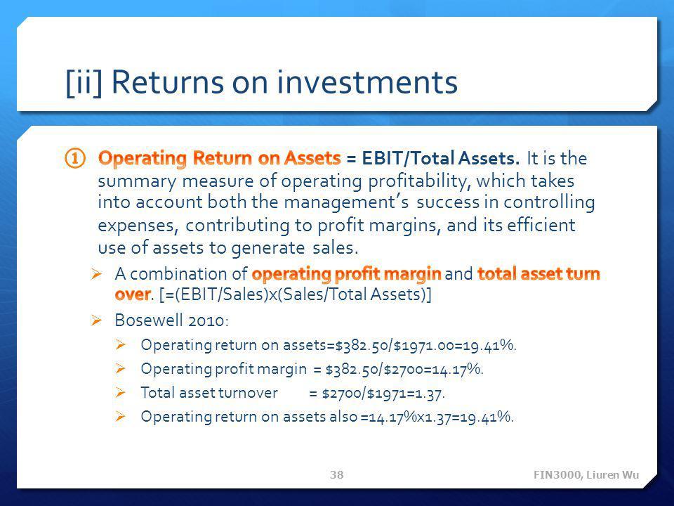 [ii] Returns on investments FIN3000, Liuren Wu 38