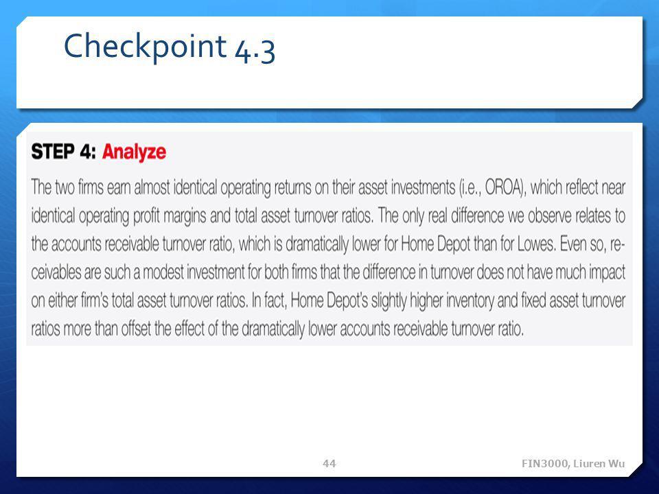 Checkpoint 4.3 FIN3000, Liuren Wu 44
