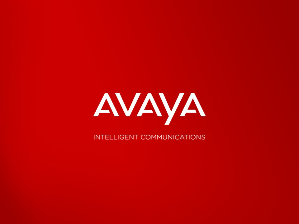 © 2010 Avaya Inc. All rights reserved. 34
