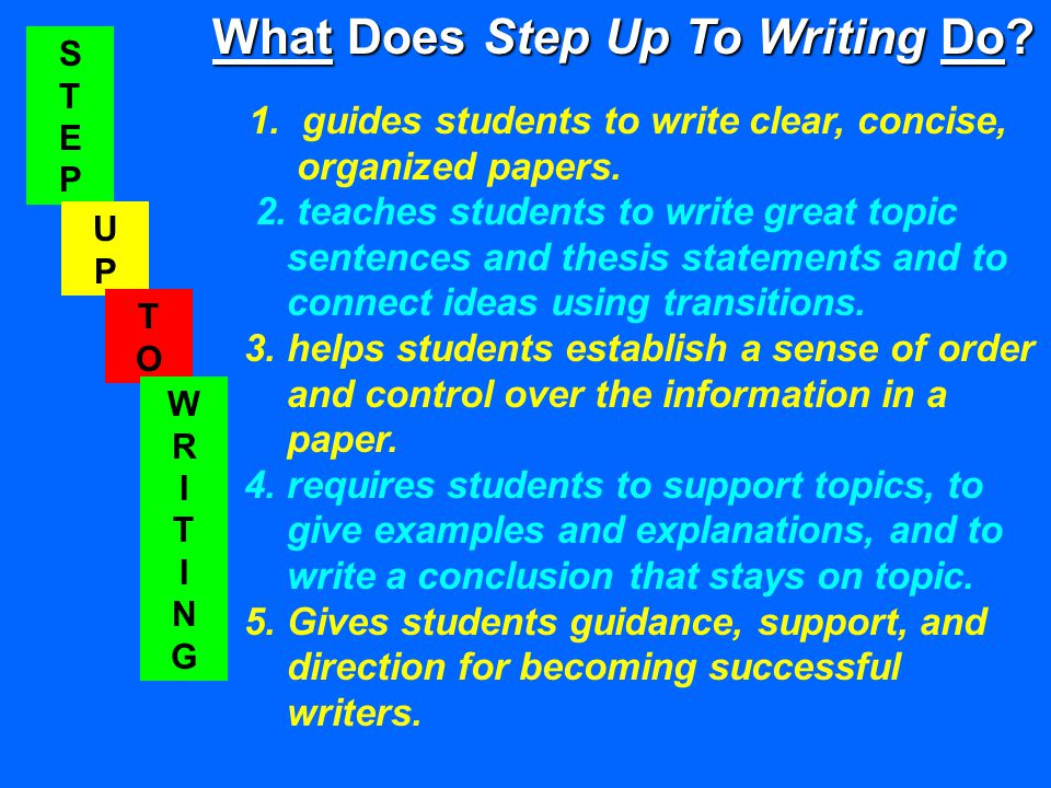 STEPSTEP UPUP TOTO WRITINGWRITING What Does Step Up To Writing Do.