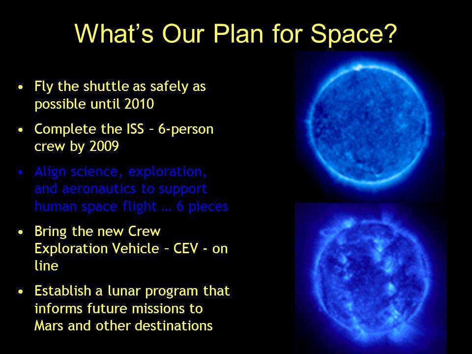What's Our Plan for Space.