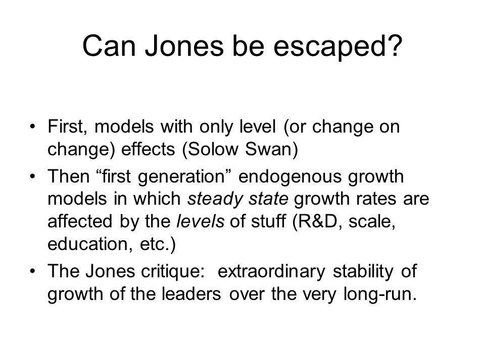 Can Jones be escaped.