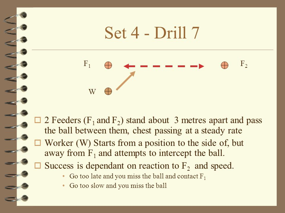 Set 4 - Drill 6 o F 1 and W each start with a ball.