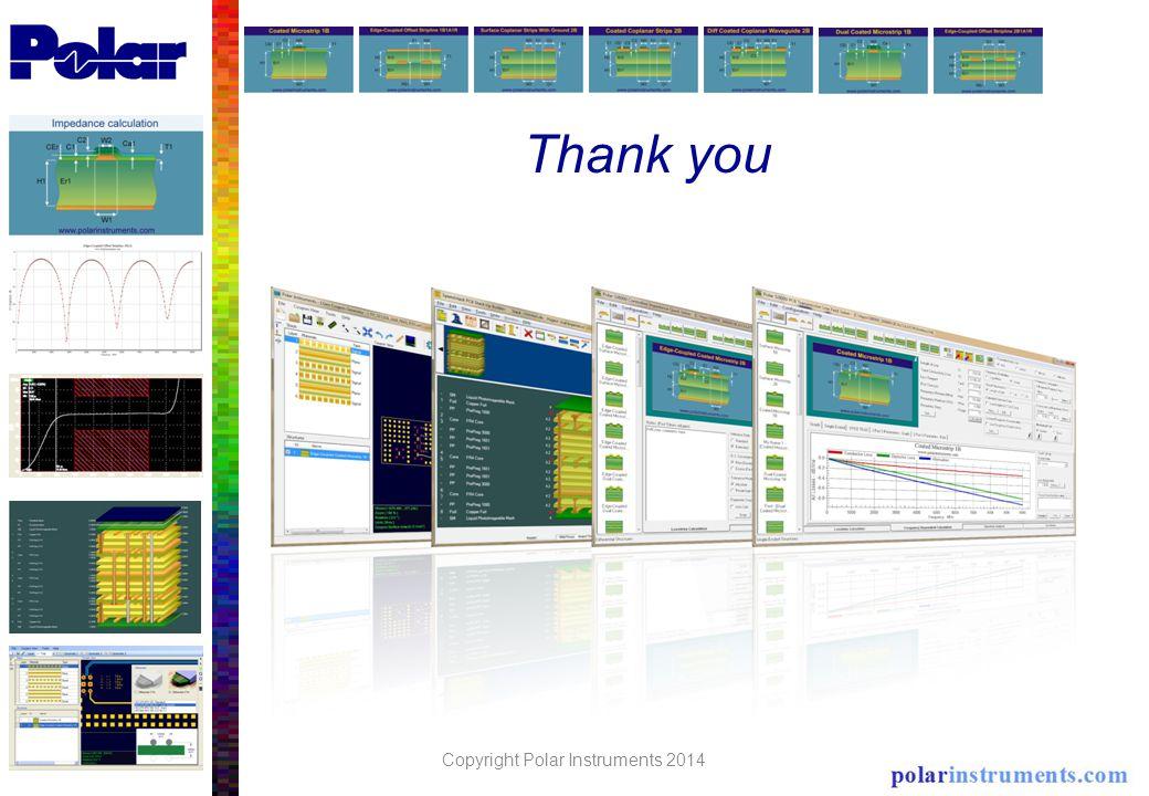 Thank you Copyright Polar Instruments 2014