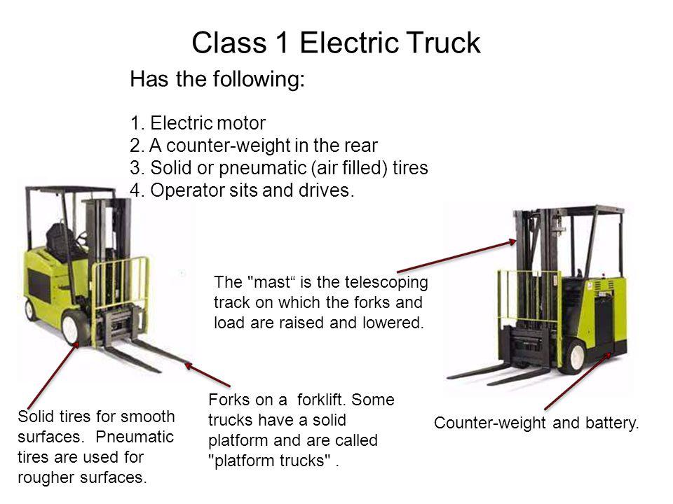 Class 2 Electric Truck Characteristics: 1.Electric motor 2.