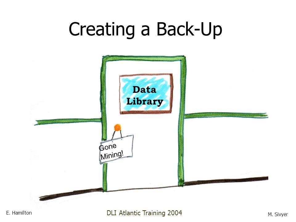 Data Library Gone Mining! Creating a Back-Up E. Hamilton M. Sivyer DLI Atlantic Training 2004