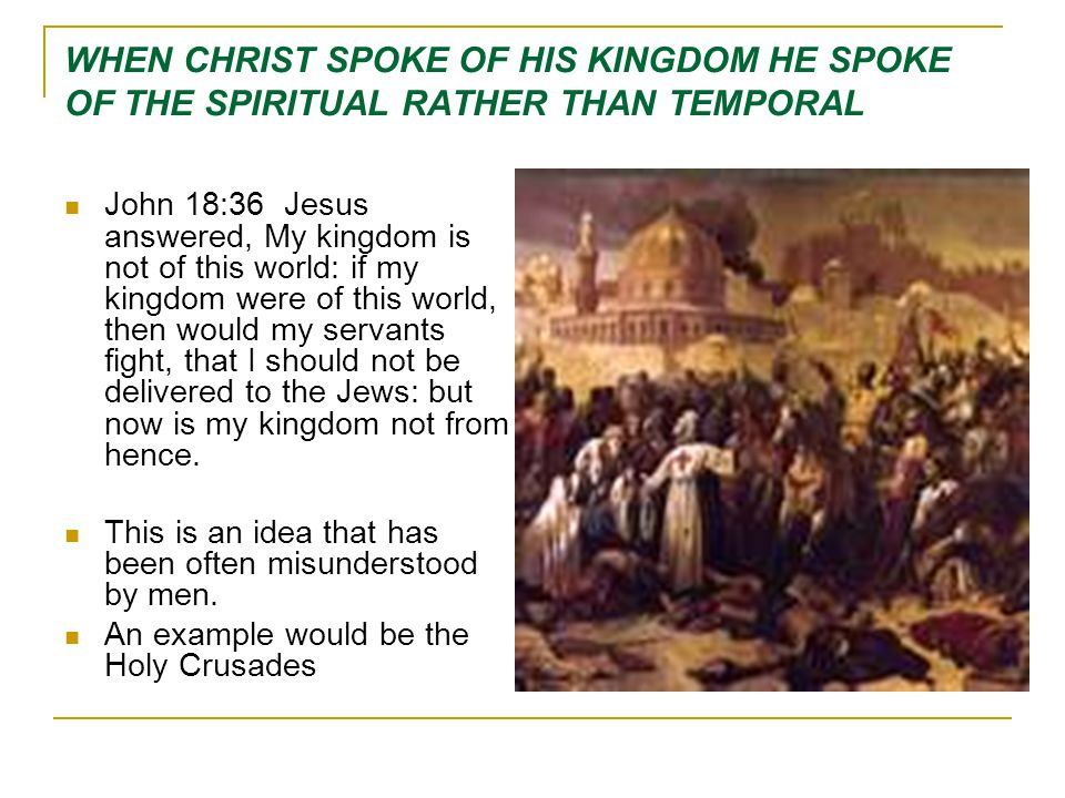 SETTING UP THE KINGDOM Today as we consider Kingdom of Christ there are four questions that I want us to consider: What does the Bible say about the Kingdom in Prophecy.