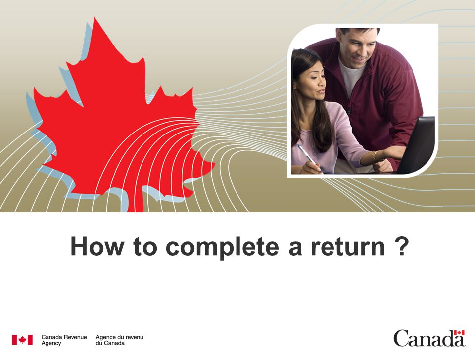 How to complete a return ?
