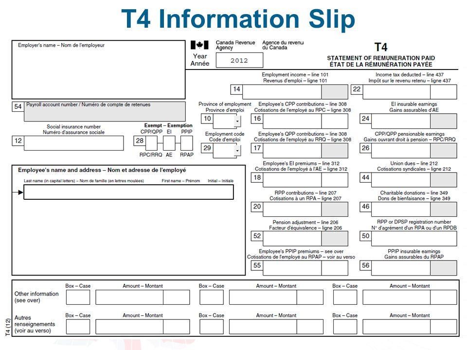 28 T4 Information Slip