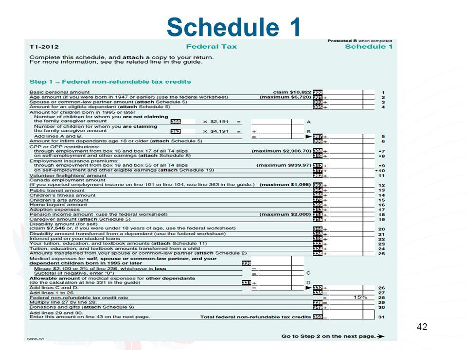 42 Schedule 1