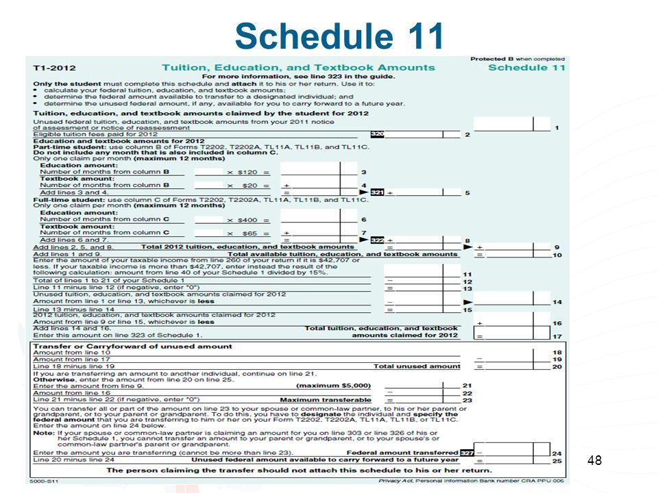 48 Schedule 11
