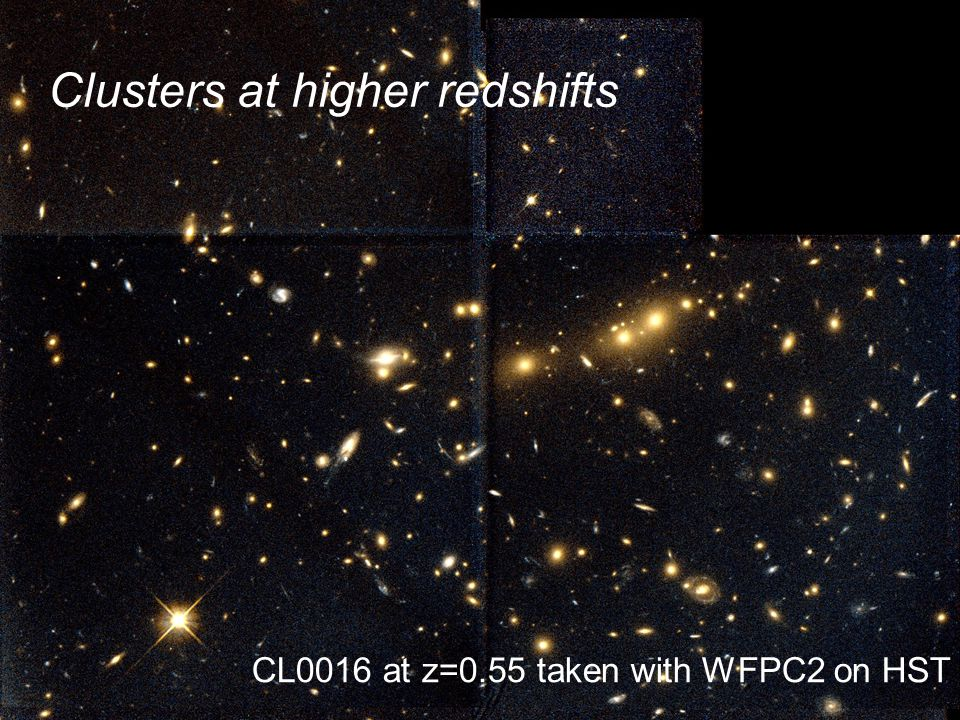 Clusters at higher redshifts CL0016 at z=0.55 taken with WFPC2 on HST