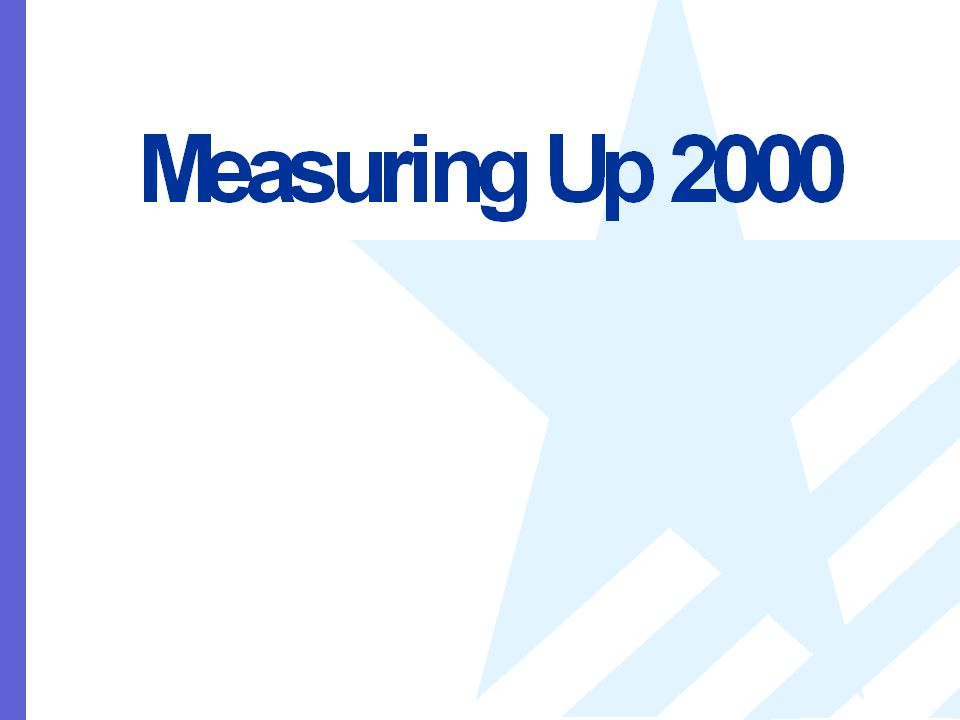 Measuring Up 2000