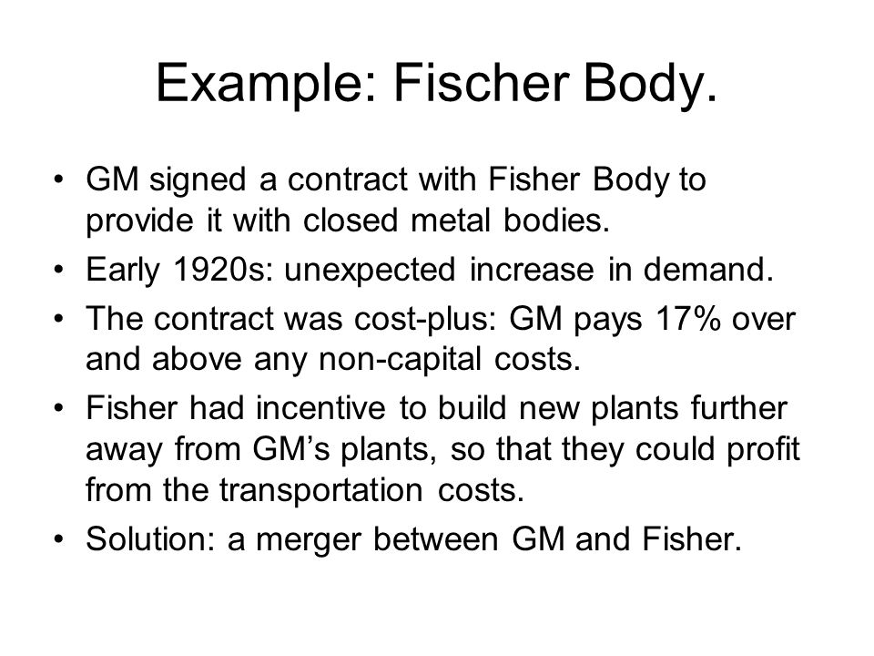 Example: Fischer Body.