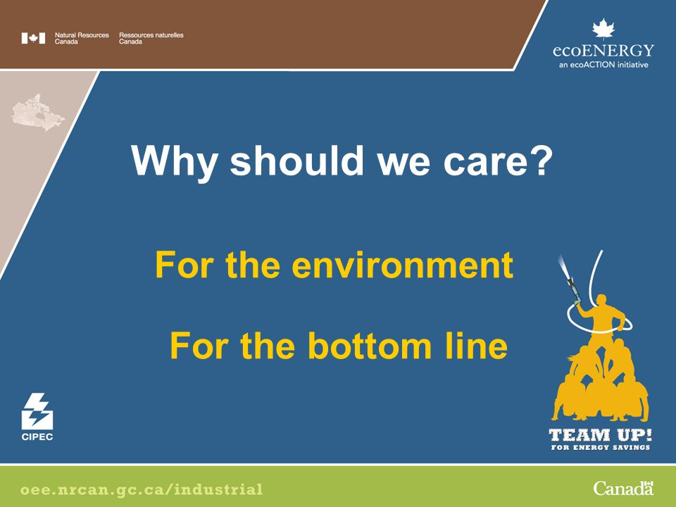 For the environment For the bottom line Why should we care