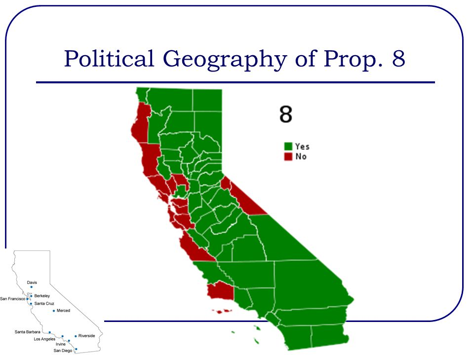 Political Geography of Prop. 8
