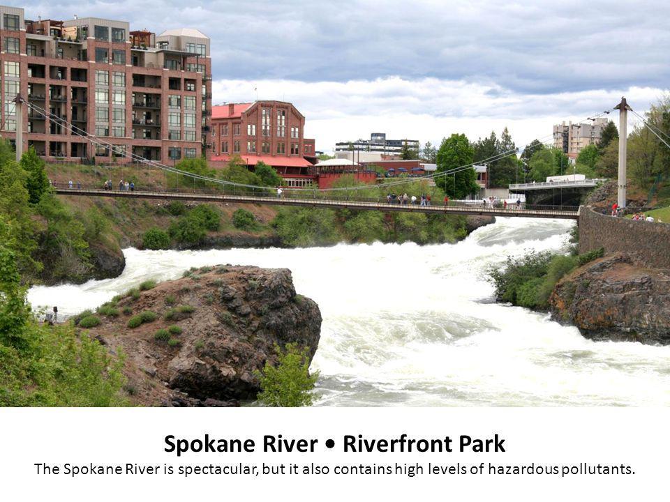 Spokane River Riverfront Park The Spokane River is spectacular, but it also contains high levels of hazardous pollutants.