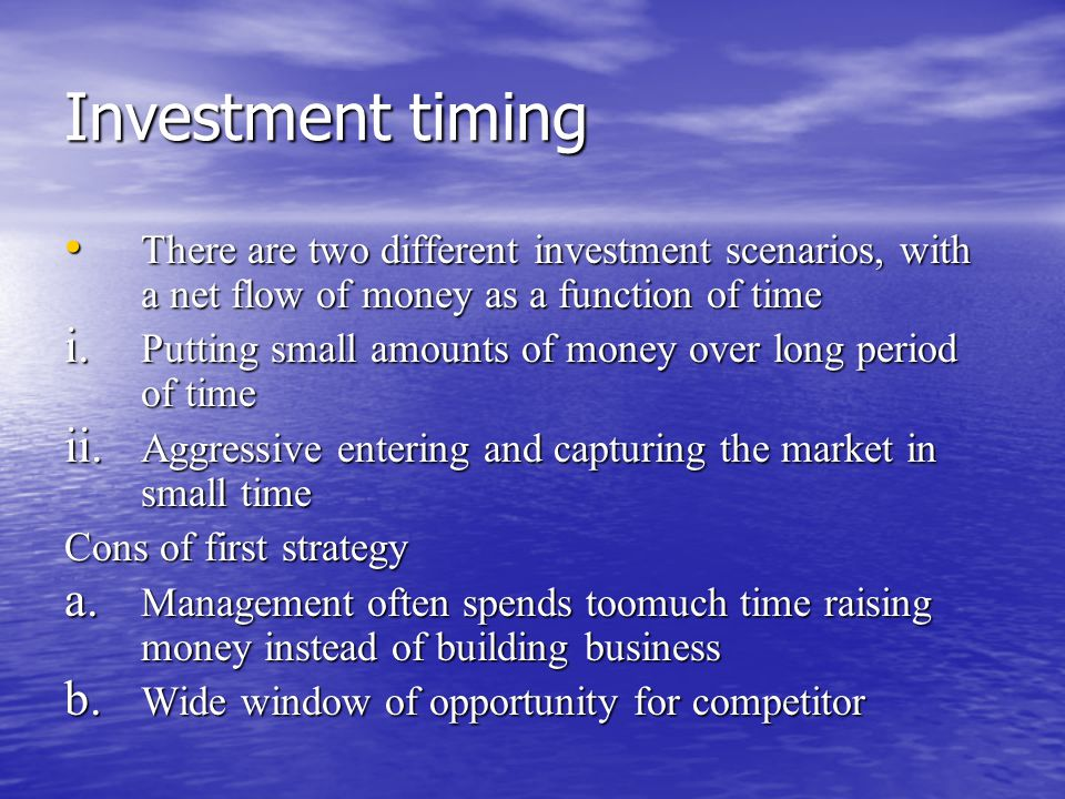 Cont… The second one is optimal curve to make more money in the short term using fewer assets and for share holders point of view The second one is optimal curve to make more money in the short term using fewer assets and for share holders point of view The entrepreneurs with too much money might end up with 'taj mahal syndrome', fancy tomb of their business The entrepreneurs with too much money might end up with 'taj mahal syndrome', fancy tomb of their business The extravagant spending often increases overhead costs and makes the company less competitive The extravagant spending often increases overhead costs and makes the company less competitive