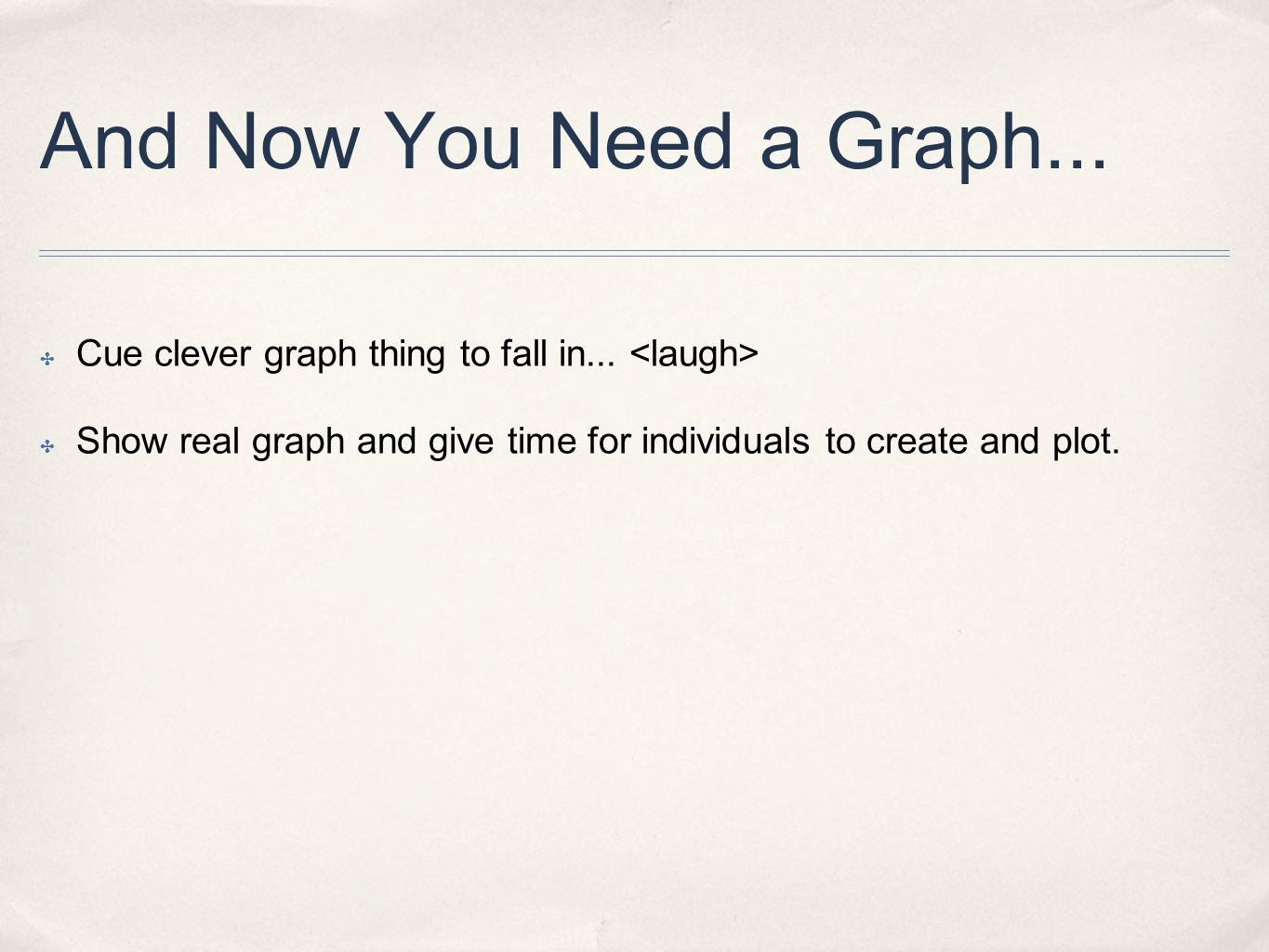 ✤ Before you get all your numbers written in pen, write a large 0 (zero) in the bottom left corner of your graph.
