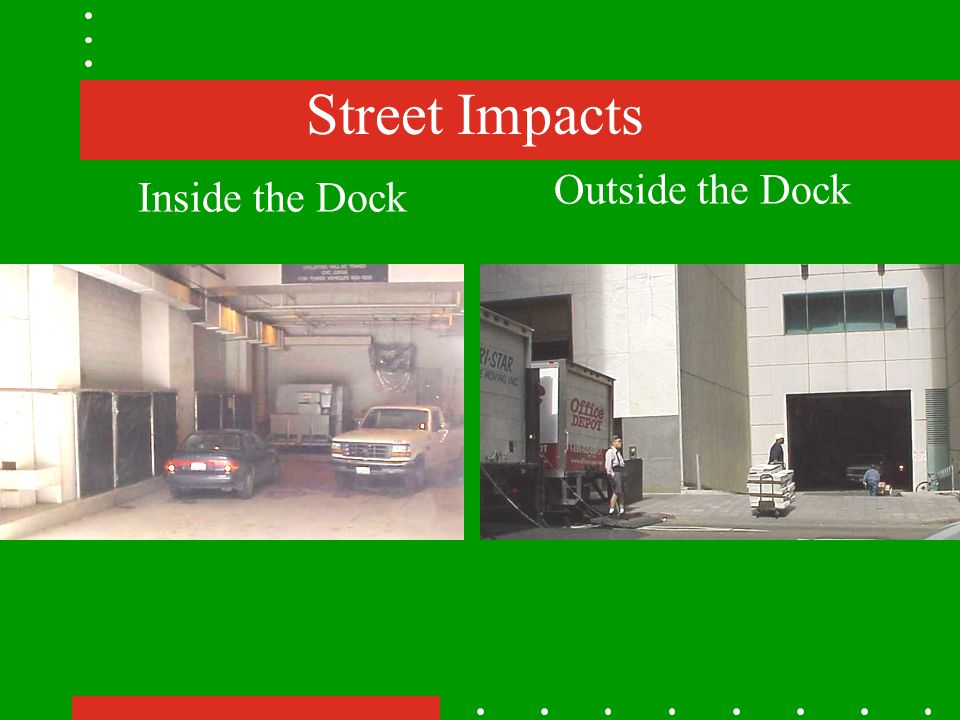 Street Impacts Inside the Dock Outside the Dock