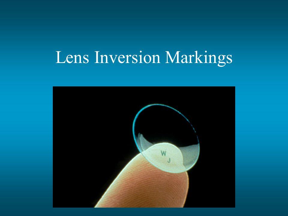 Lens Inversion Markings